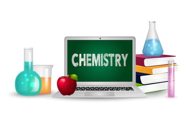 Ilustração do conceito de educação e ciência.