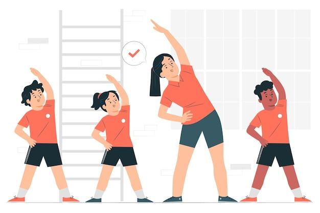 Ilustração do conceito de educação física