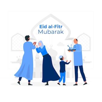 Ilustração do conceito de eid al fitr