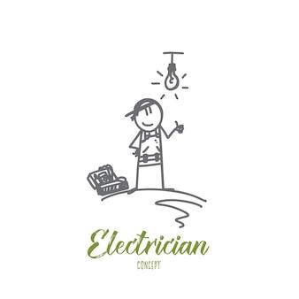 Ilustração do conceito de eletricista