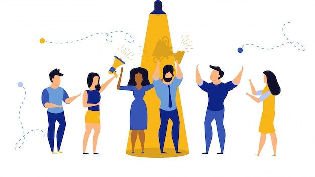 Ilustração do conceito de empresário de talento. carreira empregado pessoa emprego trabalhador encontrar.