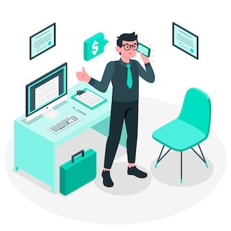 Ilustração do conceito de empresário