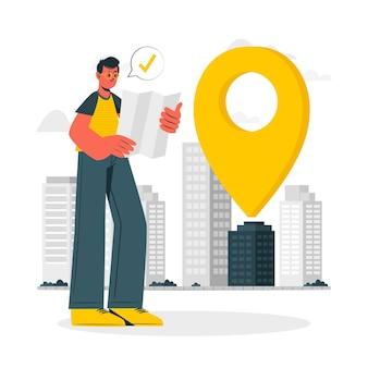 Ilustração do conceito de endereço