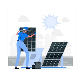 Ilustração do conceito de energia solar