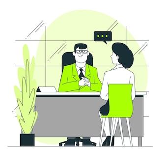 Ilustração do conceito de entrevista