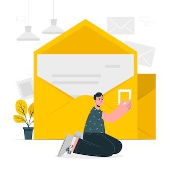 Ilustração do conceito de envelope