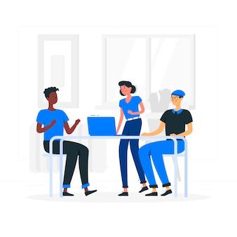 Ilustração do conceito de equipe
