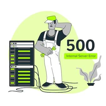 Ilustração do conceito de erro do servidor interno 500