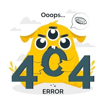 Ilustração do conceito de erro monster 404