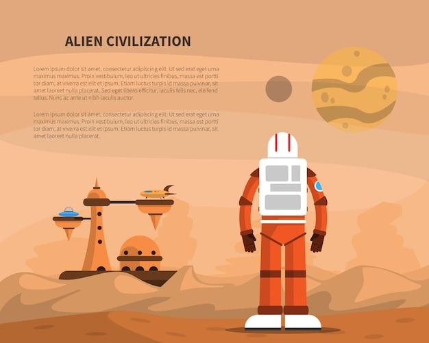 Ilustração do conceito de espaço