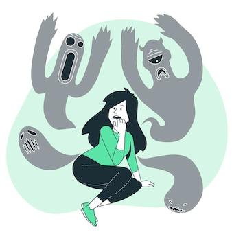 Ilustração do conceito de esquizofrenia