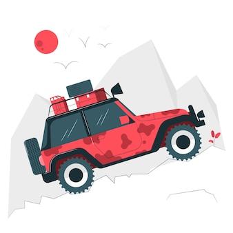 Ilustração do conceito de estrada