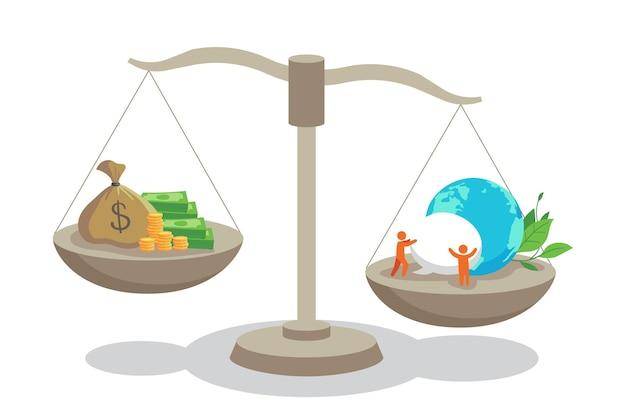 Ilustração do conceito de ética empresarial