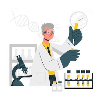 Ilustração do conceito de exame de sangue