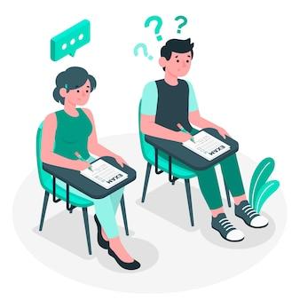 Ilustração do conceito de exames