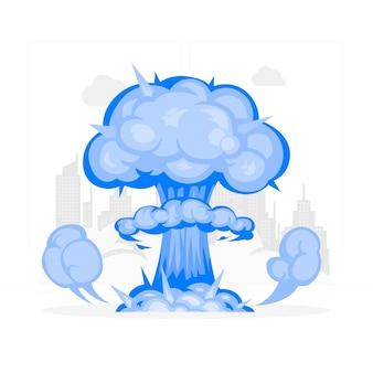 Ilustração do conceito de explosão