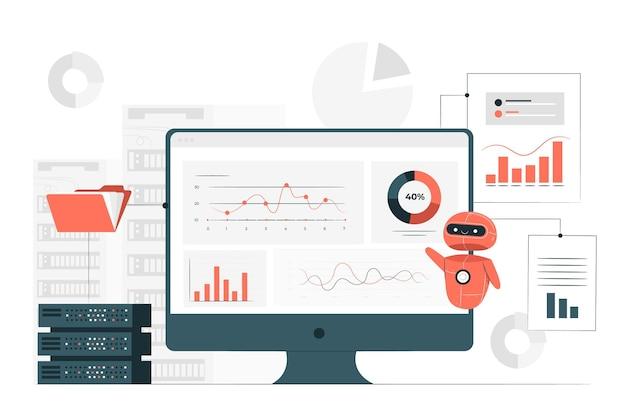 Ilustração do conceito de extração de dados