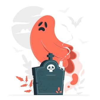 Ilustração do conceito de fantasmas