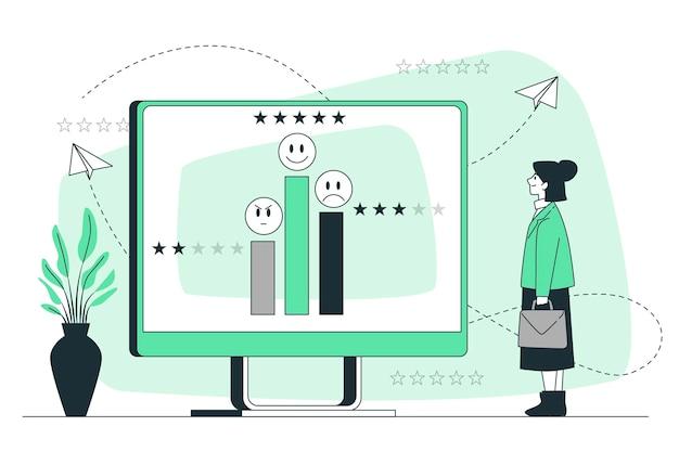 Ilustração do conceito de feedback do cliente