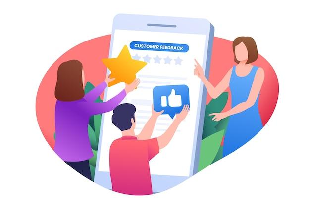 Ilustração do conceito de feedback gradiente