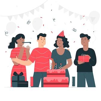 Ilustração do conceito de feliz aniversário