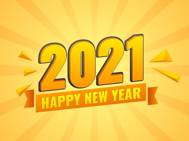 Ilustração do conceito de feliz ano novo de 2021