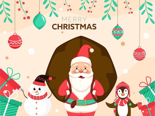 Ilustração do conceito de feliz natal