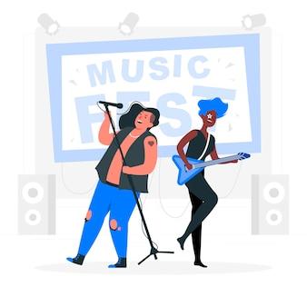 Ilustração do conceito de festival de música