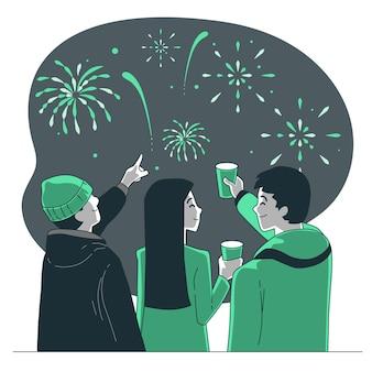Ilustração do conceito de festividades