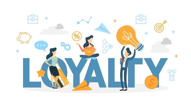 Ilustração do conceito de fidelidade do cliente