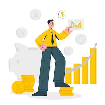Ilustração do conceito de finanças Vetor grátis