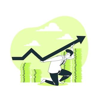 Ilustração do conceito de finanças