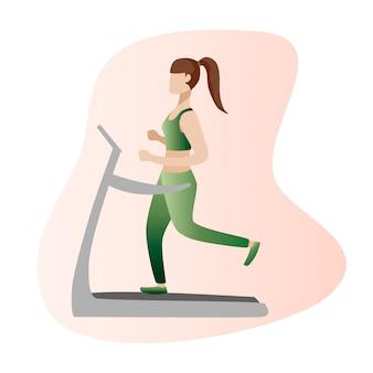 Ilustração do conceito de fitness da mulher