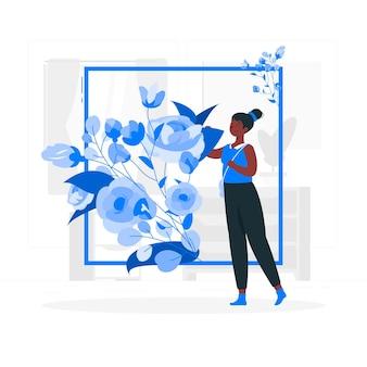 Ilustração do conceito de flores