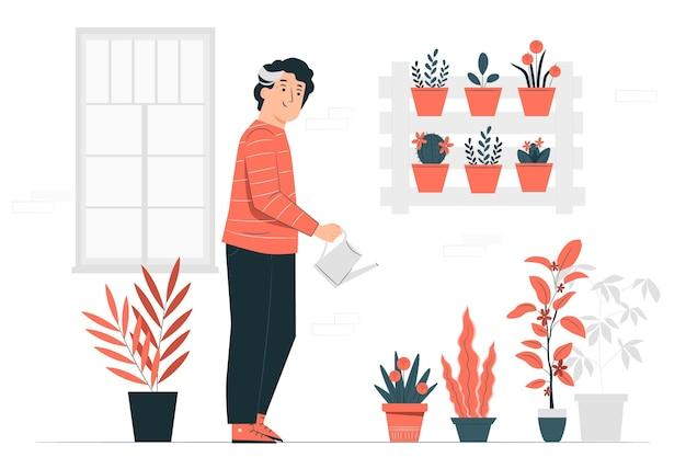 Ilustração do conceito de florescimento