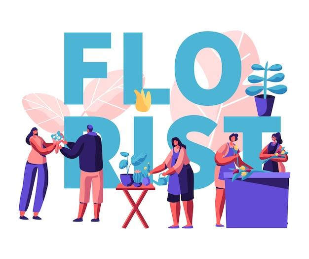 Ilustração do conceito de floricultura