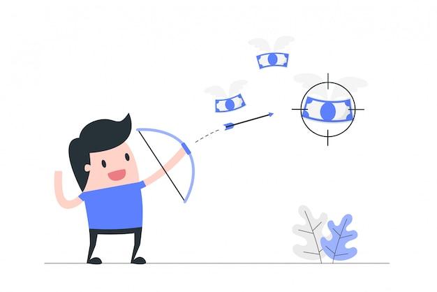 Ilustração do conceito de foco.