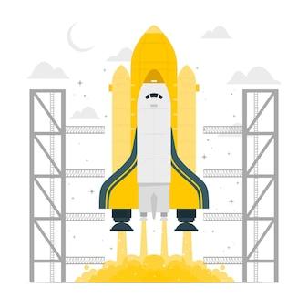 Ilustração do conceito de foguete
