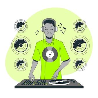 Ilustração do conceito de fone de ouvido