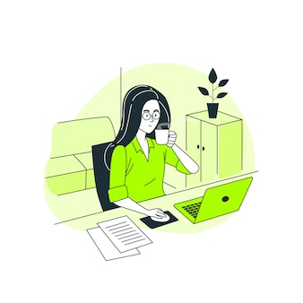 Ilustração do conceito de freelancer