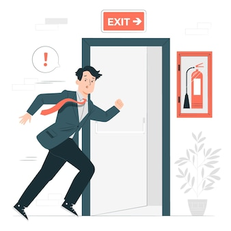Ilustração do conceito de fuga