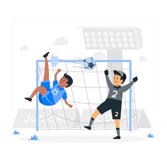 Ilustração do conceito de futebol júnior