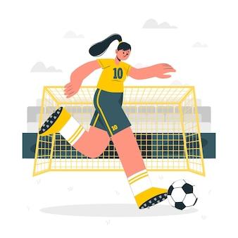 Ilustração do conceito de futebol