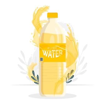 Ilustração do conceito de garrafa de água