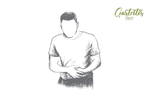 Ilustração do conceito de gastrite