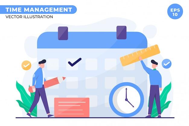 Ilustração do conceito de gerenciamento de tempo para a página inicial