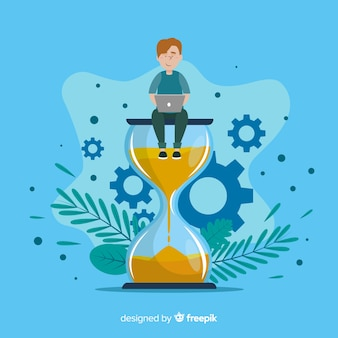 Ilustração do conceito de gerenciamento de tempo