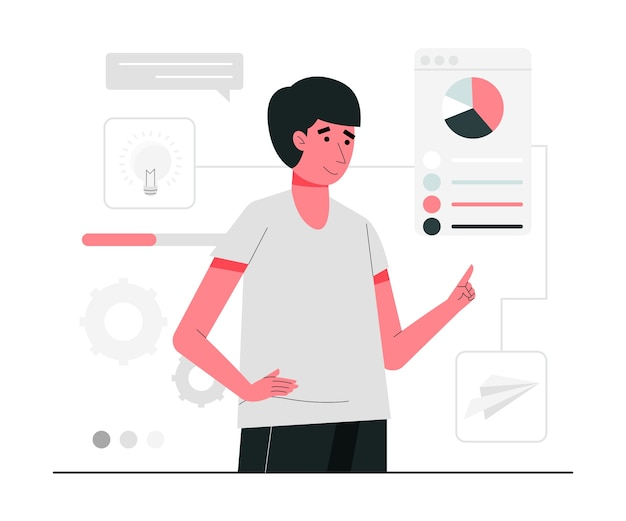 Ilustração do conceito de gestão