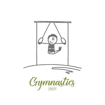 Ilustração do conceito de ginástica