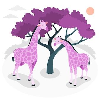 Ilustração do conceito de girafa